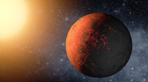 This artist's animation flies through the Kepler-20 star system, where NASA's Kepler mission discovered the first Earth-size planets around a star beyond our own. The system is jam-packed with five planets, all circling within a distance roughly equivalent to Mercury's orbit in our solar system.The two Earth-size planets, which are presumably rocky, are Kepler-20e and Kepler-20f, and the three larger gas planets are Kepler-20b, Kepler-20c and Kepler-20d. The arrangement of the planets from the closest to its star to the farthest is: b, e, c, f and d, with the ordering of the letters reflecting the time at which the planets were initially discovered.This animation begins by showing the farthest planet from the star, Kepler-20d, then flies over to Kepler-20f and moves on successively to closer and closer planets. It then pans out to show all five planets in the miniature solar system.The Kepler-20 system is unusual in that the sizes of the planets alternate, with the closest in being large, followed by a small planet, and then continuing on with the planets switching back and forth in size. Astronomers are intrigued by this configuration because it completely differs from that of our solar system, where there is a clear separation between the four small, rocky inner planets, and the four giant, gaseous outer planets.NASA's Ames Research Center in Moffett Field, Calif., manages Kepler's ground system development, mission operations and science data analysis. JPL managed the Kepler mission's development.For more information about the Kepler mission and to view the digital press kit, visit http://www.nasa.gov/kepler.
