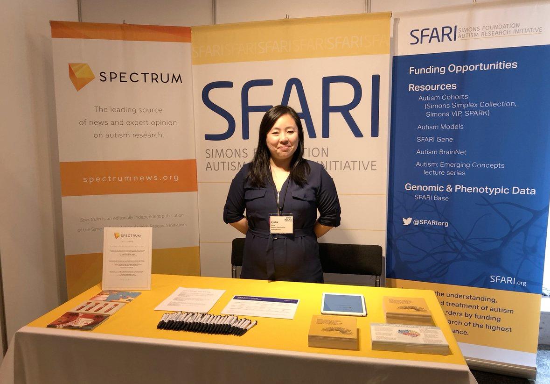 Image of the SFARI booth at INSAR 2018