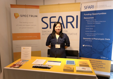 Image of the SFARI booth at INSAR 2018