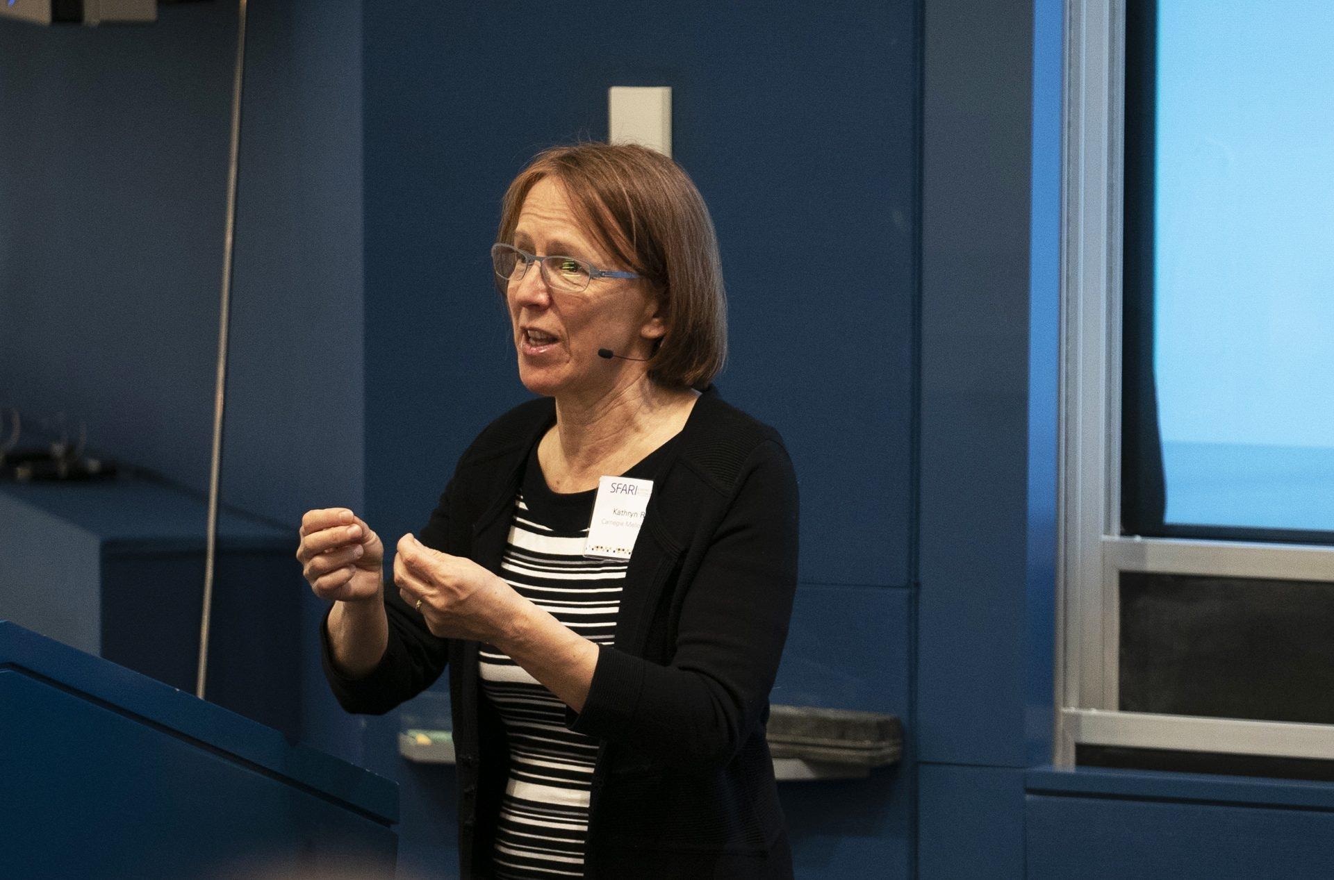 Image of Kathryn Roeder giving a presentation.